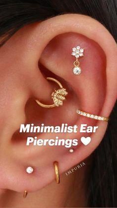 Daith Piercing, Cartilage Earrings, Tragus, Ear Piercings, Ear Jewelry, Jewellery, You're Beautiful, Conch, Beauty Makeup