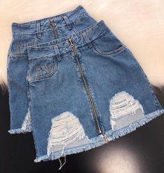 A saia jeans moda ! em 2019 fashion, fashion jobs e summer o Cute Lazy Outfits, Sporty Outfits, Teen Fashion Outfits, Cute Fashion, Stylish Outfits, Girl Fashion, Summer Outfits, Girl Outfits, Outfit Chic