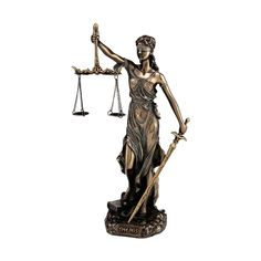 Themis Blind Lady Justice Goddess Statue in Greek Ancient Mythology Bronze Art Sculpture by Veronese Design Lady Justice, Statues For Sale, Accent Colors, Sculpture Art, Mythology, Illusions, Bronze, Antiques, Artwork