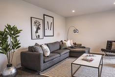 Living Room Inspiration | Rug | Plants | Large Artwork | Living Room Layout Large Artwork, Living Room Inspiration, Rug, Layout, Couch, Plants, Furniture, Design, Home Decor