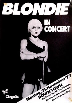 Blondie Concert Poster https://www.facebook.com/FromTheWaybackMachine/