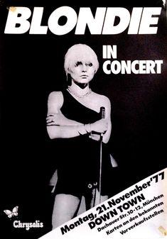 Blondie Concert Poster https://www.facebook.com/FromTheWaybackMachine/
