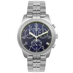 Tissot Men's T34148842 T-Classic PR50 2000 Chronograph Watch Tissot. $259.00. Stainless-steel case; Blue dial; Date function; Chronograph functions. Precise Swiss-Quartz movement. Case diameter: 40 mm. Scratch-resistant-sapphire crystal. Water-resistant to 165 feet (50 M)
