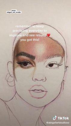 Art Drawings Sketches Simple, Pencil Art Drawings, Realistic Drawings, Color Pencil Art, Drawing Techniques, Art Sketchbook, Aesthetic Art, Art Tutorials, Portrait Drawing Tips