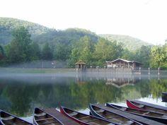 A misty morning on Lake Susan