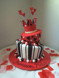 Pretty Photo of Heart Birthday Cake Heart Birthday Cake Queen Of Hearts Cake For Birthday Party Couture Cakes Inc Heart Birthday Cake, Birthday Cake Roses, Diy Birthday Cake, 1st Birthday Parties, Queen Birthday, Mini Cakes, Cupcake Cakes, Heart Cakes, Casino Party Decorations