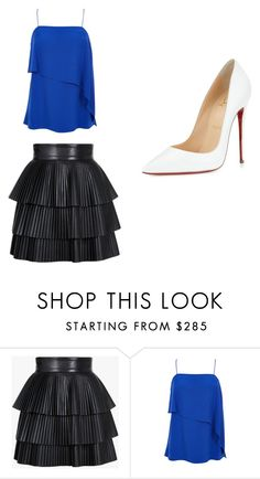 """""""my may fashion"""" by ella0611-2001 on Polyvore featuring Balmain, TIBI, Christian Louboutin, women's clothing, women, female, woman, misses and juniors"""