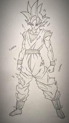 Goku Drawing, Ball Drawing, Manga Drawing, Goku Pics, Naruto Drawings, Dragon Ball Gt, Anime Sketch, Anime Art Girl, Character Art