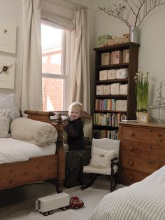 Restoration Hardware kid's room. A kid's room with staying power, indeed.