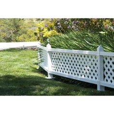 1 Ft. X 4 Ft. White Modular Vinyl Lattice Fence Panel (4-pack)