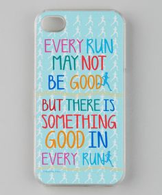 Take a look at this Aqua 'Good Run' Case for iPhone on zulily today!