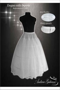 Enagua estilo imperio para vestidos de Novia