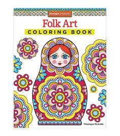 Folk Art Coloring Book