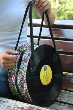 Madonna Vinyl Records Bag Custome Vinyl Handbag Handmade