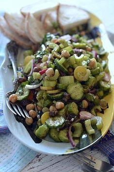 calypso's cave celery cuke olive salad