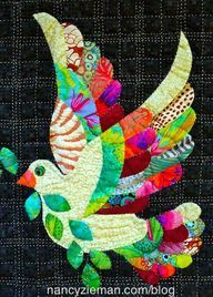 ".""Love the Dove"" Free Applique Pattern - A Must See plus other applique pieces to make for Christmas, etc."