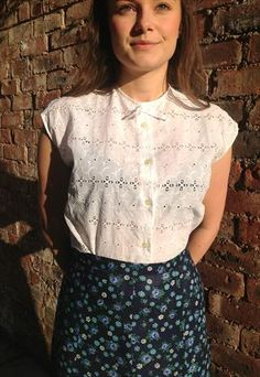 VINTAGE BRODERIE ANGLAIS BLOUSE