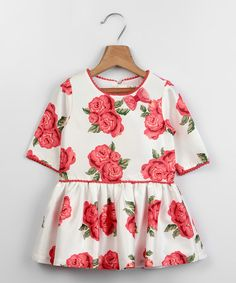 Look at this Beebay White Rose Dress - Infant