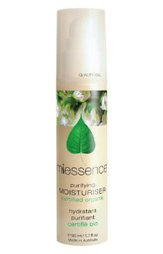 The Miessence Purifying Moisturizer is a light lotion formulated to hydrate, purify and tone skin without over-moisturizing or clogging pores.
