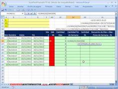 ▶ Excel Facil Truco #74 P2: Formula de Matriz Para Contar Fechas - YouTube libro de trabajo: http://www.excelfacil123.com.ar/ Formula de matriz para contar fines de semana funciones SUMA SI DIASEM FILA e INDIRECTO. Formula de matriz que cuente con fecha y otros criterios. FILA e INDIRECTO.  Twitter: http://twitter.com/ExcelFacil123 Facebook: https://www.facebook.com/pages/Excel-F%C3%A1cil/370567826406025 Excelisfun: http://www.youtube.com/user/ExcelIsFun?feature=watch