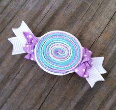 Lavanda, Aqua y blanco envuelven caramelos cinta escultura pelo Clip arco... Promo envío gratuito