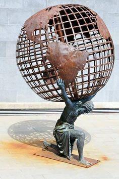 atlas sculpture in Tenerife..