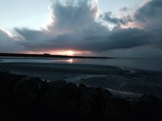 Winter sunset on South Uist in the Outer Hebrides Scotland