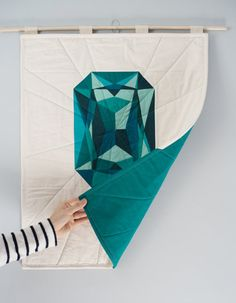 Emerald Luxe Edition Quilted Poster May by 3rdStoryWorkshop