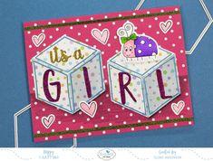 Elizabeth Craft Designs Designer Challenge – June 2018 Baby Girl Cards, Elizabeth Craft Designs, Design Crafts, June, Challenges, Paper Crafts, Holiday Decor, Blog, Scrapbooking