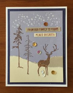 card by Lucy G., paper from Friendship kit, stamps by TH, holiday card
