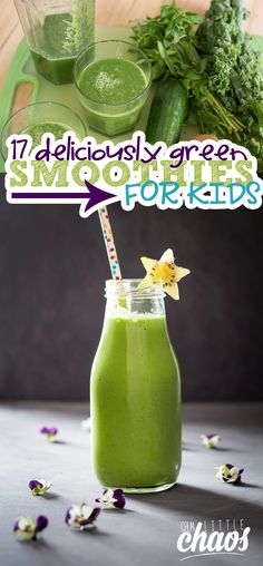 If you love green smoothies and want some for your kids, I have a great list for you. I have rounded up a list of 16 yummy green smoothies for kids.