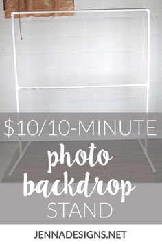 """I've seen a lot of tutorials on how to DIY your own backdrop stand out of PVC pipe, so I grabbed my trusty notebook and drew up a quick sketch of what I'd need."" How to make your own DIY photo backdrop stand for weddings, showers, and birthday parties. Photo Backdrop Stand, Pvc Backdrop, Picture Backdrops, Backdrop Frame, Diy Wedding Backdrop, Photography Backdrop Stand, Photography Props, Backdrop Ideas, Bridal Shower Backdrop"
