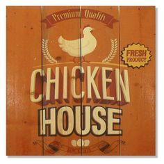 Gizaun Art Chicken House Indoor/Outdoor Wall Art - WPCH1420