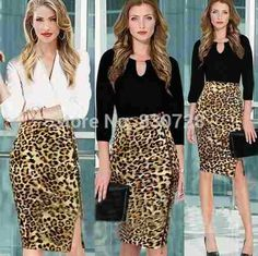 falda tubo leopardo moda 2014 oferta especial