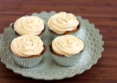 Carrot Cake Cupcakes with Cream Cheese frosting <3
