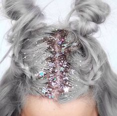 glitter unicorn hair stars
