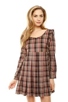860e7a46305b Criss-Cross Plaid Dress-this has a winter cabin feel Dresses With Cowboy  Boots