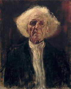 """Gustav Klimt. """"Blind old man"""". 1896, Leopold Museum. Vienna. Austria."""
