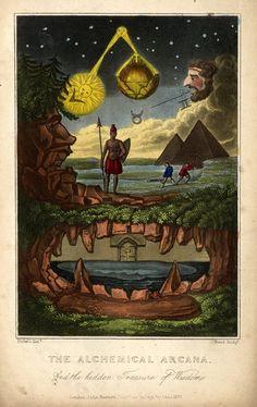 The Alchemical Arcana, and the Hidden Treasure of Wisdom, England, United Kingdom, 1831, by John Bennett.