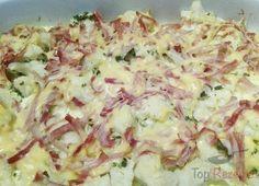Blumenkohl mit Schinken und Käse überbacken