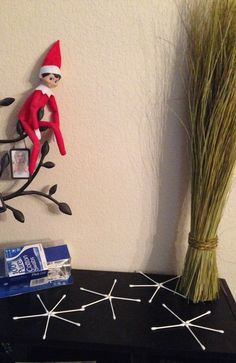 Madison's Elf on the shelf ~ day 10.
