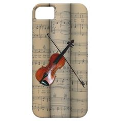 Violin ~ Rolled Sheet Music Background ~ Musical