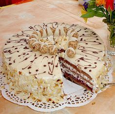 Giotto - Schwarzwälder 6 - Tours,Trips,Home Decoration,Hairstyle Pie Cake, No Bake Cake, Cake Cookies, Cupcake Cakes, Bistro Food, Naked Cakes, Austrian Recipes, Cake Fillings, Crazy Cakes