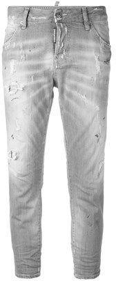 DSQUARED2 Women's Grey Cotton Jeans.