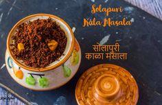 Solapuri Kala Masala - Kali Mirch - by Smita Mason Jar Meals, Meals In A Jar, Masala Powder Recipe, Maharashtrian Recipes, Marsala Recipe, Spice Blends, Cooking Light, Sun Dried, Indian Food Recipes
