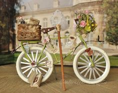 Butterfly Collector  Miniature 1/12 Scale Dollhouse Bicycle by cinderellamoments on Etsy