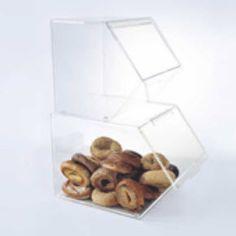 Large Stackable Bagel Bins | Acrylic Bin | Buffet Supplies