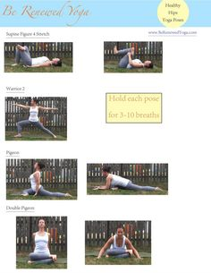 Healthy Hips Yoga Poses #yoga #hips