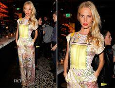 Poppy Delevingne In Mary Katrantzou - Vogue Triple Threats Dinner