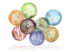 Hand blown glass balls- Worldly Goods